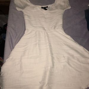 white forever 21 stretchy dress size small